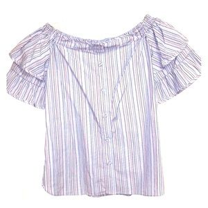 NWT Parker striped button down off the shoulder